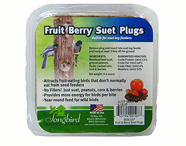 Fruit Berry Suet Plugs