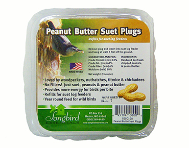 Peanut Butter Suet Plugs