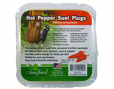 Hot Pepper Suet Plugs
